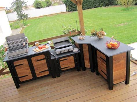 quand la cuisine prend ses quartiers d 233 t 233 meuble pour cuisine schiste et chataignier