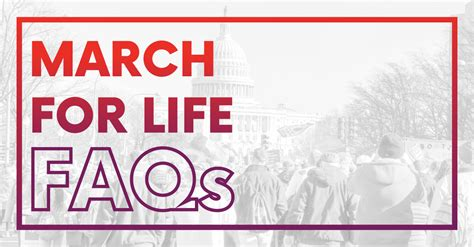 FAQs 2021 March for Life - March for Life