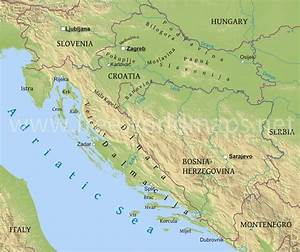 Kroatien Geographischen Karte