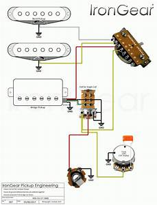 Guitar Wiring Diagram 2 Humbucker 1 Volume 1 Tone