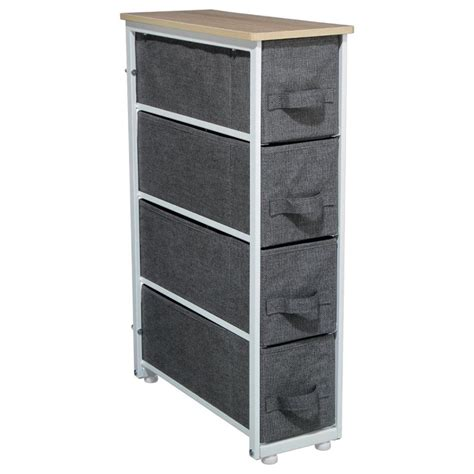 de rangement meuble de rangement 4 tiroirs gris fonc 233