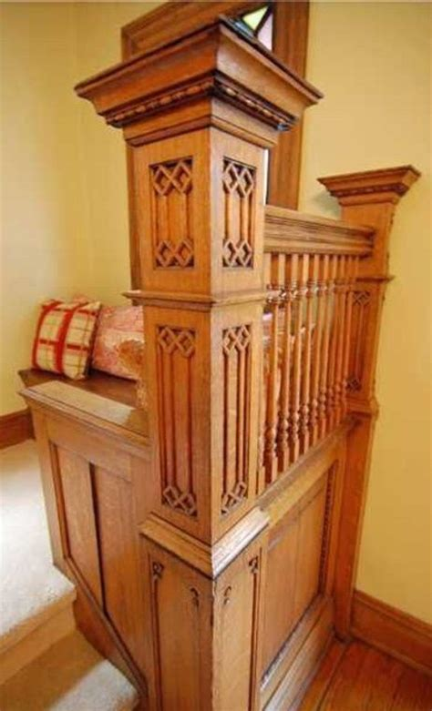 staircases newel posts images  pinterest