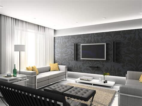 wallpaper livingroom room design modern living room designs with grey decorative wallpaper