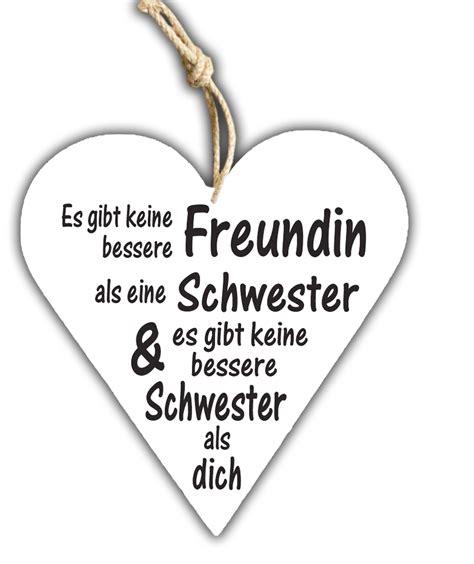 Schwester Holzschild  Geschenk Online Shop Carina
