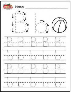Letter B Tracing Worksheets for Preschool
