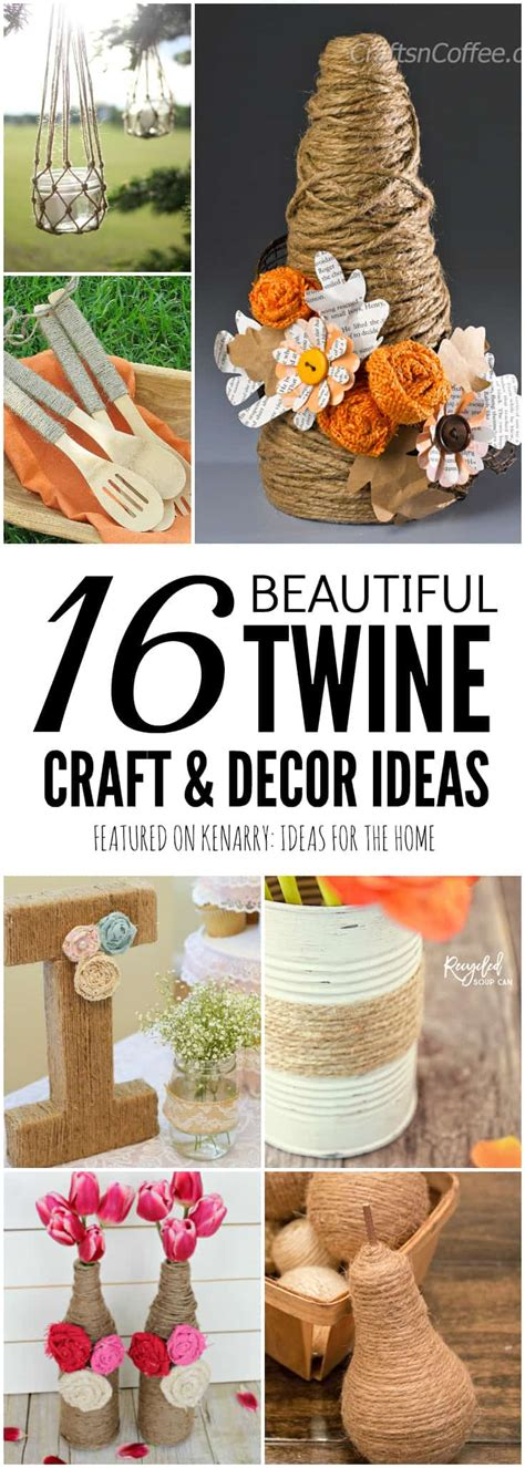 jute craft ideas diy projects and decor using burlap twine