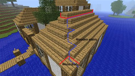 Minecraft Boat Stairs by Image Roof Png Minecraft Constuctions Wiki Fandom
