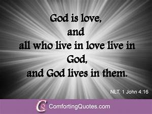 Bible Quotes about God is Love | ComfortingQuotes.com