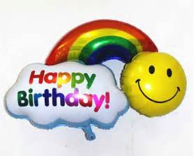 Smiley Happy Birthday Balloons
