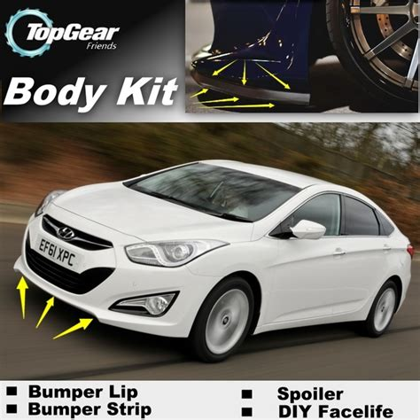 hyundai i40 tuning for hyundai i40 bumper lip front spoiler deflector for topgear friends car tuning view