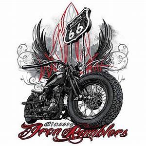 Route 66 En Moto : t shirt homme manches courtes moto biker iron ramblers route 66 usa 12619 ~ Medecine-chirurgie-esthetiques.com Avis de Voitures
