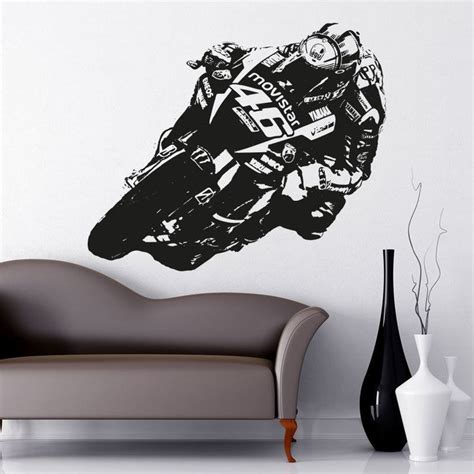 stickers mur chambre details about valentino moto gp vinyl wall