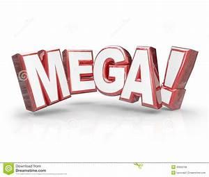 Mega 3d Word Large Letters Big Huge Enormous Deal Stock ...