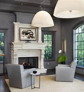 gray walls living room transitional with grey walls