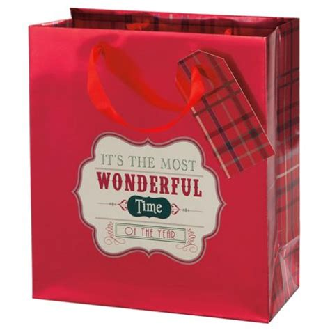 buy tesco tartan gift bag medium from our christmas gift
