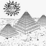 Pages Coloring Summer Activities Pyramids Egyptian Break Printable Sun Supernatural Colouring Preschool Moon Sunrise History Drawing Camping Today Three Cartoon sketch template