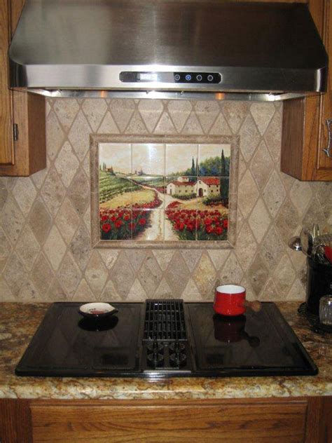 Decorative Tile Backsplash  Kitchen Tile Ideas  Red