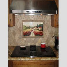Decorative Tile Backsplash  Kitchen Tile Ideas  Red