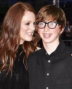 Julianne Moore's Lookalike Son Caleb, 13, Makes Red Carpet ...