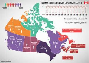 Canada Immigration by Province - Immigroup - We Are ...