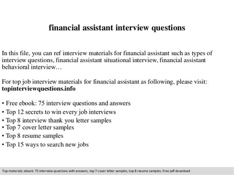 Assistant Questions by Financial Assistant Questions