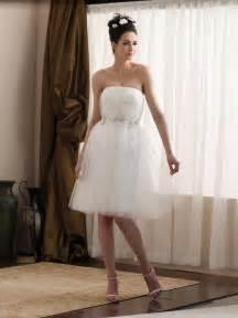 casual bridesmaid dresses tea length taffeta tulle appliqués informal wedding dress zoombridal prlog