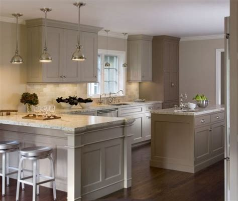 light grey kitchen cabinets transitional single line taupe kitchen grey cabinets 6992
