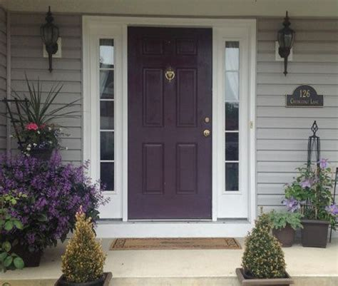 pin by christine ronecker on house purple front doors