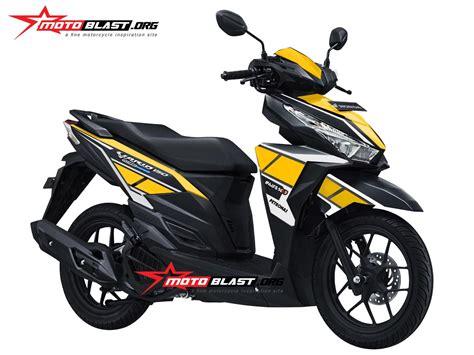 Modivikasi Vario by Modifikasi Striping Honda Vario 150 Black Yamaha Anniversary