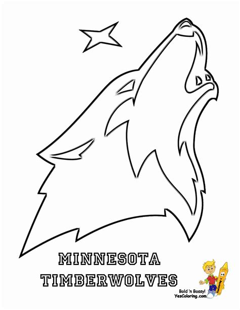 Minnesota Timberwolves Coloring Pages Learny Kids