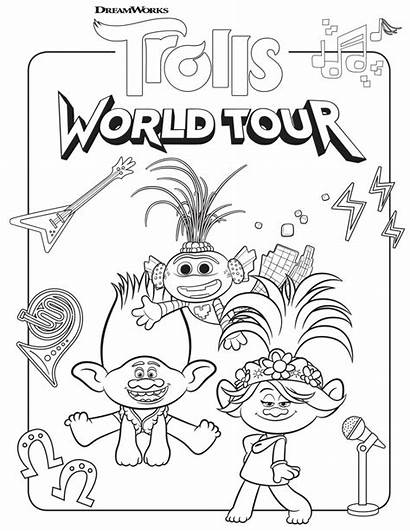 Trolls Coloring Tour Pages Youloveit