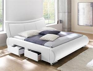 Modernes Bett 180x200 : polsterbett lando bett 180x200 cm wei 4 schubkasten doppelbett wohnbereiche schlafzimmer betten ~ Watch28wear.com Haus und Dekorationen