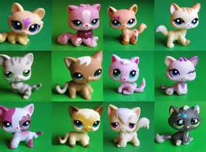 lps ebay cats lps littlest pet shop cats kittens 2 hasbro lots