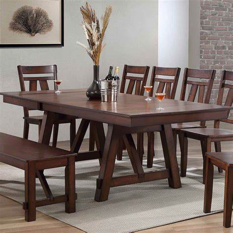 winslow rectangular dining room set rustic cherry