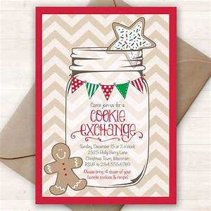 Items Similar To Christmas Cookie Exchange Invitation