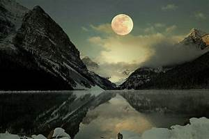 Lake Louise Full Moon Photography Print Fine Art Banff ...