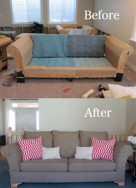 Recovering A Settee by Do It Yourself Divas Diy Fabric From A And