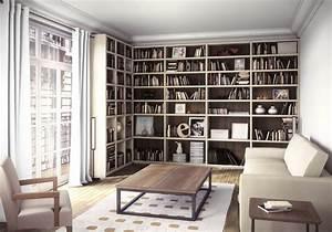 Rangement M'I : meuble rangement et bibliothèque d'angle Manufacture d'Intérieurs