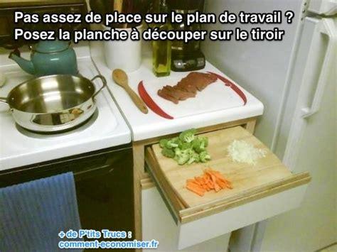 planche pour plan de travail cuisine pas assez de place sur le plan de travail de cuisine l