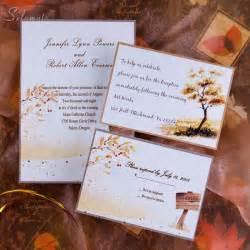 wedding invitations ideas top 5 autumn fall wedding invitation ideas