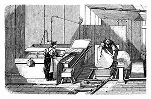 Manual Papermaking Stock Illustration