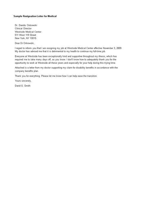 Medical Resignation Letter   Templates at allbusinesstemplates.com