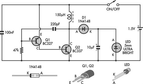 Circuit Diagram Led Torch by Led Circuits And Projects Led Torch Uses Blocking