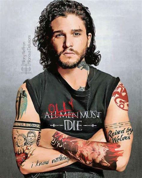 If Game Of Thrones Stars Had Character Fitting Tattoos