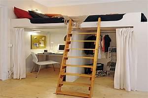 Lit Mezzanine Dressing : opter pour un dressing sous votre mezzanine ~ Dode.kayakingforconservation.com Idées de Décoration