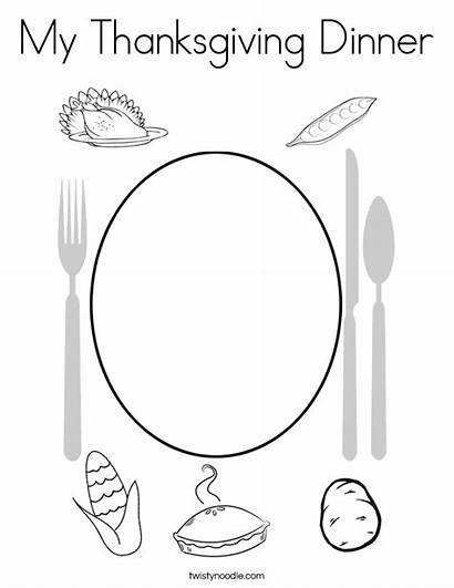 Thanksgiving Coloring Dinner Pages Feast Twisty Noodle