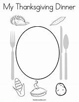 Coloring Thanksgiving Dinner Outline Twistynoodle Built California Usa sketch template
