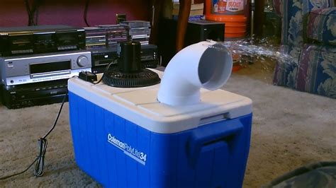 fan with ice compartment homemade air conditioner diy awesome air cooler easy