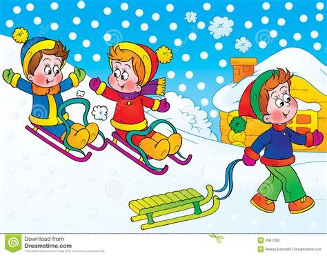Jeux De L'hiver Illustration Stock. Illustration Du