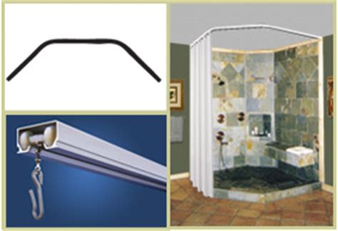 shower rods custom neo angle ceiling shower curtain rod
